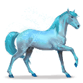 cheval de l'arc-en-ciel lovely blue