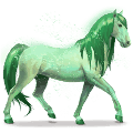 cheval de l'arc-en-ciel forest green