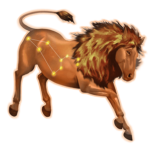 cheval astrologique lion